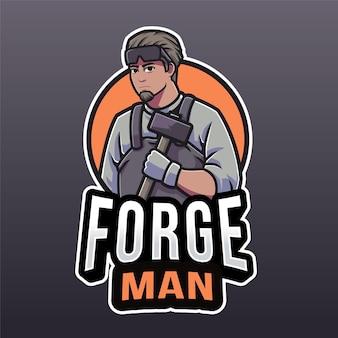 Forge man logo sjabloon