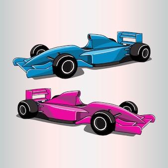 Formule 1 auto illustratie Premium Vector