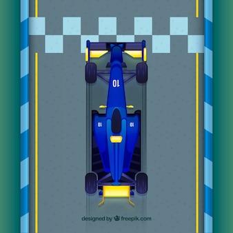 Formule 1 auto kruising afwerkingslijn