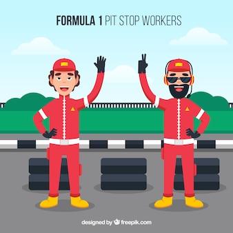 Formule 1 pitstop-werknemers