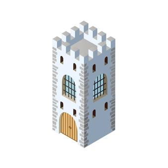 Fort vesting kasteel isometrisch