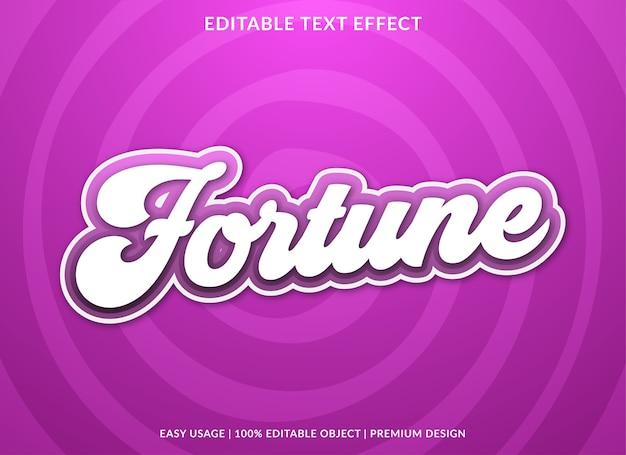 Fortuin teksteffect premium stijl