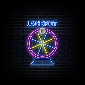 Fortuin wiel neon teken neon symbool