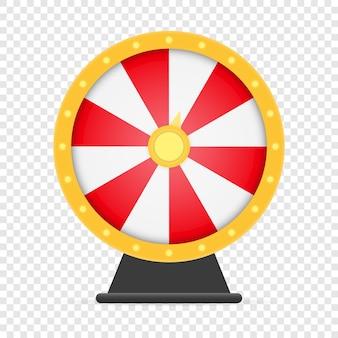 Fortuinwiel gelukkige roulette geïsoleerd op wit