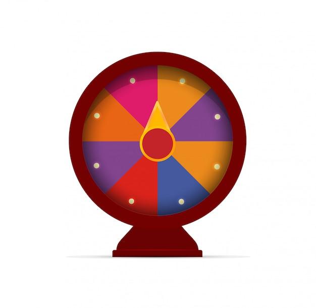 Fortune wielen. logo voor gokspellen.