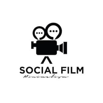 Forum bioscoop studio film production logo-ontwerp Premium Vector