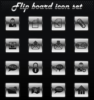 Forum interface vector flip mechanische iconen voor gebruikersinterface ontwerp