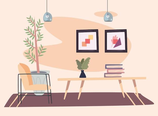 Foto's en tafel home place scene