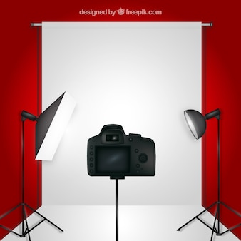 Foto studio rode achtergrond