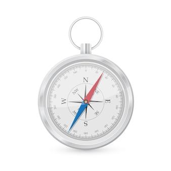 Foto van compas op witte achtergrond
