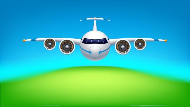 Foto van het vliegtuig