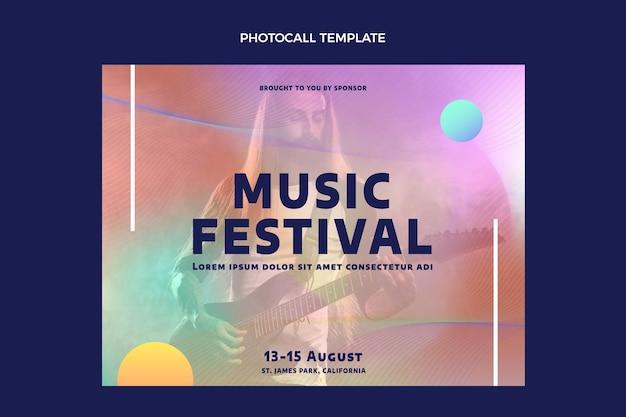Fotocall voor kleurrijke muziekfestivals met kleurovergang