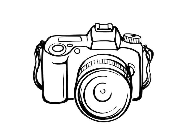 Fotocamera tekenlijn.