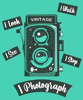 Fotocamera vintage illustratie