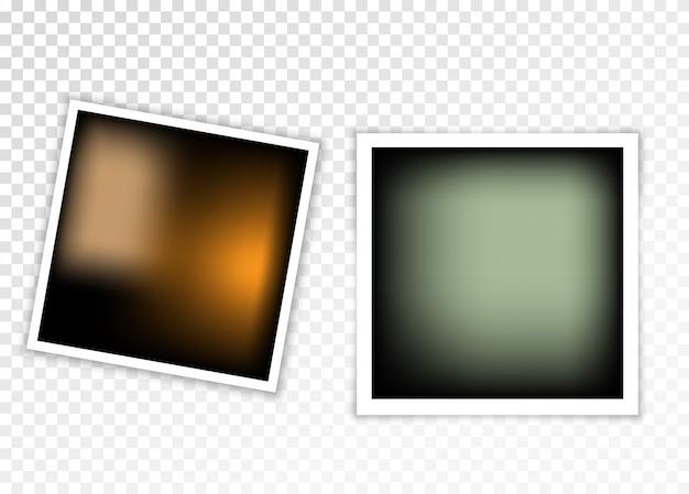 Fotoframe met schaduw op een transparante achtergrond.