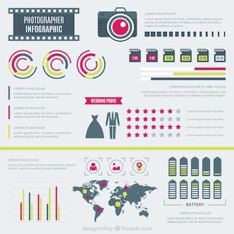 Fotograaf flat infographic