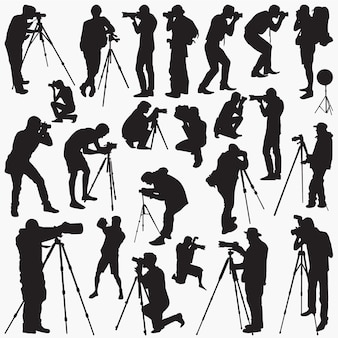 Fotograaf silhouetten
