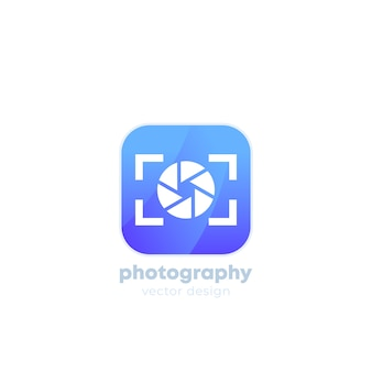 Fotografie logo met camera