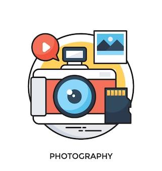 Fotografie platte vector pictogram