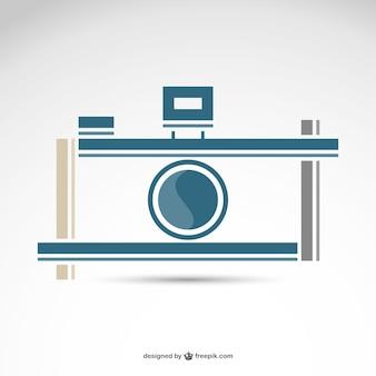 Fotografie retro camera logo gratis