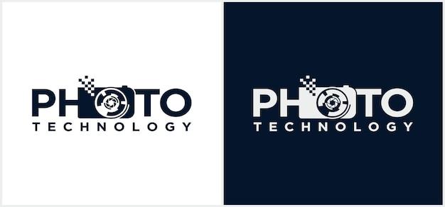 Fotografie technologie logo collectie camera logo fotografie technologie logo ontwerp icoon