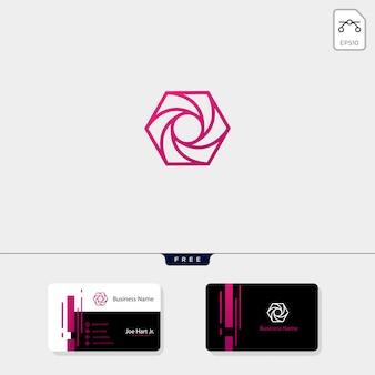 Fotografie zeshoek logo sjabloon