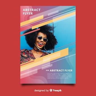 Fotografische abstracte sjabloon folder