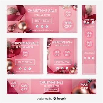 Fotografische kerst banner collectie