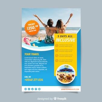 Fotografische reizen brochure sjabloon