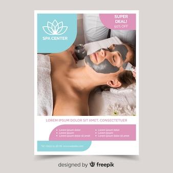 Fotografische spa-flyer