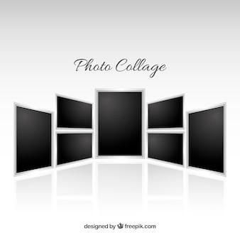 Fotolijst collage in realistische stijl