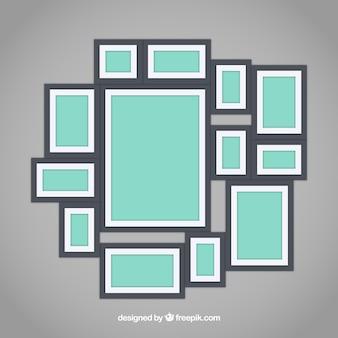 Fotolijst collage met platte ontwerp