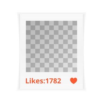 Fotolijst met likes
