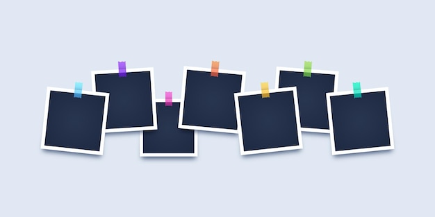 Fotolijst met plakband