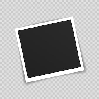 Fotolijst mockup ontwerp. fotokader op plakband geïsoleerd op transparante achtergrond.
