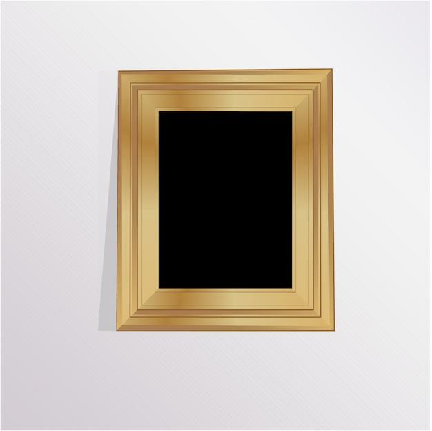 Fotolijst van hout met een grijze achtergrond