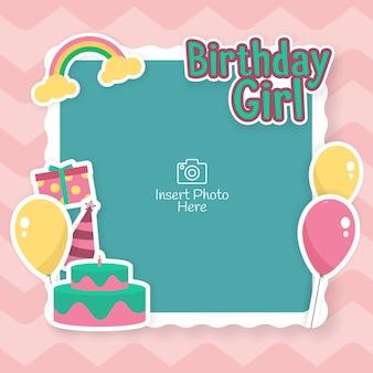 Fotolijst voor baby- of kinderverjaardagsfeest