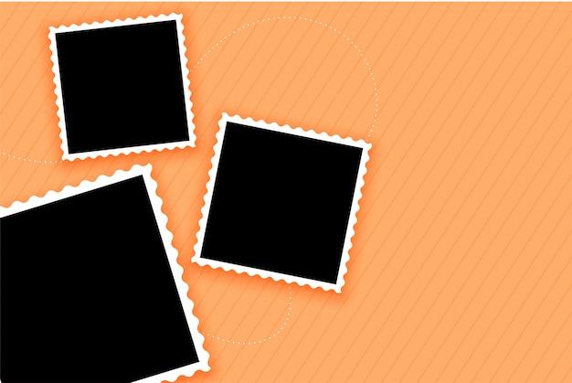 Fotolijsten ingesteld op pastel gekleurde achtergrond