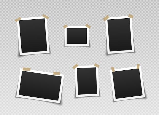 Fotolijsten met plakband