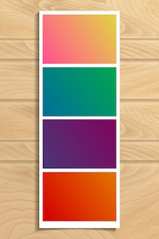 Fotolijstjes op houten structuur. vector illustratie.