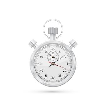 Fotorealistische foto van stopwatch op witte achtergrond