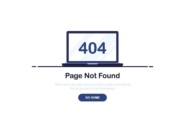 Fout 404-concept voor bestemmingspagina in plat ontwerp