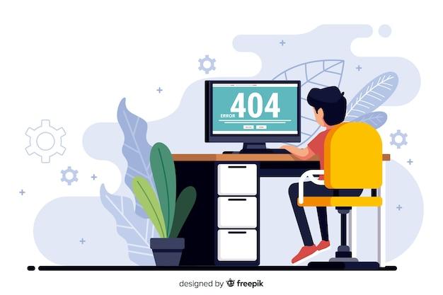 Fout 404-concept voor bestemmingspagina