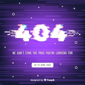 Fout 404 glitch achtergrond