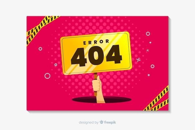 Fout 404 landing plat ontwerp
