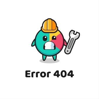 Fout 404 met de schattige kaartmascotte, schattig stijlontwerp voor t-shirt, sticker, logo-element