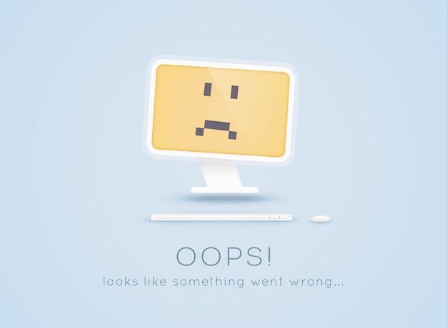 Fout 404 - pagina niet gevonden. pagina niet gevonden tekst. oeps ... het lijkt erop dat er iets mis is gegaan ...