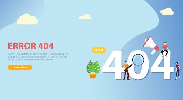 Fout 404 pagina niet gevonden websitesjabloon