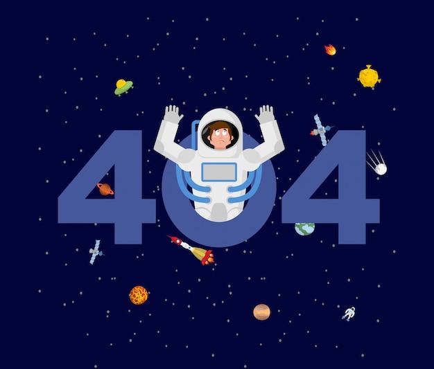 Fout 404. verrassing voor astronaut.