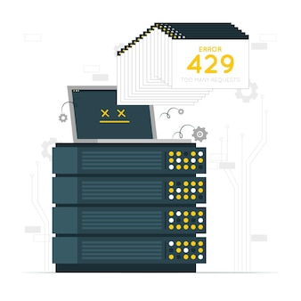 Fout 429 concept illustratie